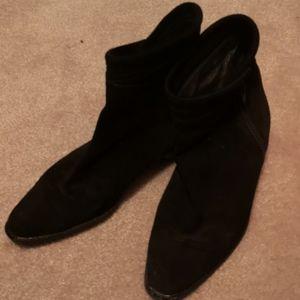 Black Suede Boots 5 Italian
